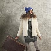 Одежда ручной работы. Ярмарка Мастеров - ручная работа Куртка из овчины молочного цвета на заказ. Handmade.