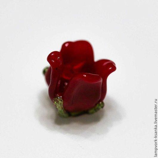 """Для украшений ручной работы. Ярмарка Мастеров - ручная работа. Купить Бусины для бижутерии """"Красный четырехлистник"""". Handmade. Бордовый"""
