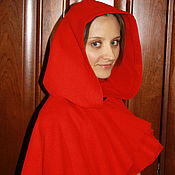handmade. Livemaster - original item Red pelerine with a hood. Handmade.