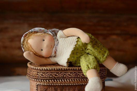 Вальдорфская игрушка ручной работы. Ярмарка Мастеров - ручная работа. Купить Ариша, кукла-неваляшка 32см. Handmade. Вальдорфская кукла