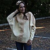 Одежда ручной работы. Ярмарка Мастеров - ручная работа Валяный свитер-балахон. Handmade.