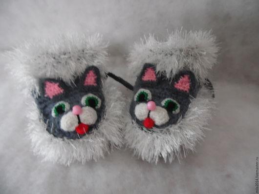 Для новорожденных, ручной работы. Ярмарка Мастеров - ручная работа. Купить вязанные пинетки котята. Handmade. Однотонный, пинетки в подарок