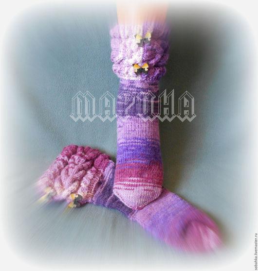 Носки, Чулки ручной работы. Ярмарка Мастеров - ручная работа. Купить НОСКИ сапожки. Handmade. Комбинированный, носки вязаные, вязание