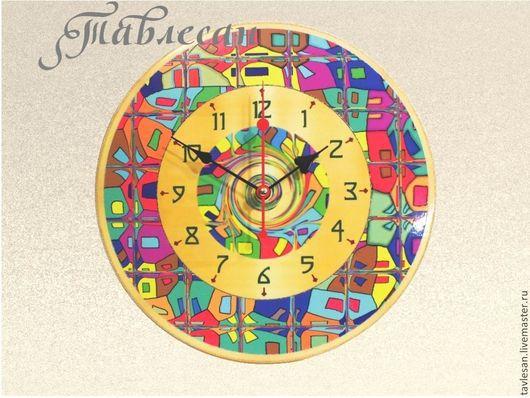 """Часы для дома ручной работы. Ярмарка Мастеров - ручная работа. Купить Часы настенные """"Мозаика"""" круглые для гостиной. Handmade."""