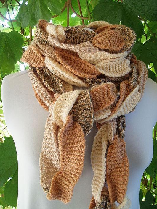 Шарфы и шарфики ручной работы. Ярмарка Мастеров - ручная работа. Купить длинный шарф из шерсти Цепочки. Handmade. Однотонный