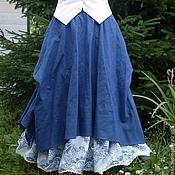 Одежда ручной работы. Ярмарка Мастеров - ручная работа №016 Льняная юбка-бохо. Handmade.
