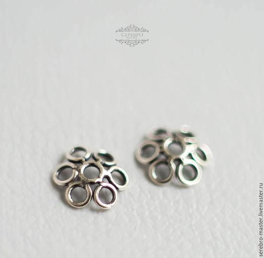 Для украшений ручной работы. Ярмарка Мастеров - ручная работа. Купить Шапочки 6 мм и 8 мм для бусин серебро 925. Handmade.