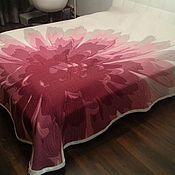 """Для дома и интерьера ручной работы. Ярмарка Мастеров - ручная работа Покрывало 2,64х2,75 двустороннее на кровать """"цветок"""". Handmade."""