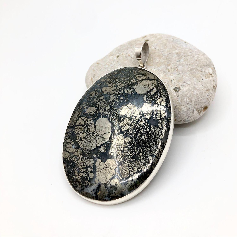Pendant with marcasite, Pendant, Feodosia,  Фото №1