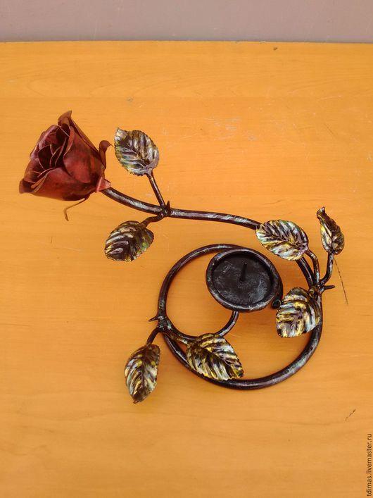 Подставки под цветы ручной работы. Ярмарка Мастеров - ручная работа. Купить подсвечник розочка. Handmade. Подставка, подставка для цветов