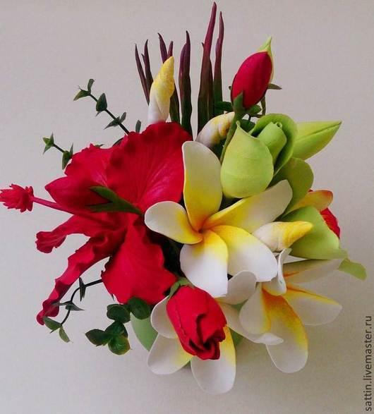 Цветы ручной работы. Ярмарка Мастеров - ручная работа. Купить Травиатта - цветочная композиция. Handmade. Цветы, гибискус