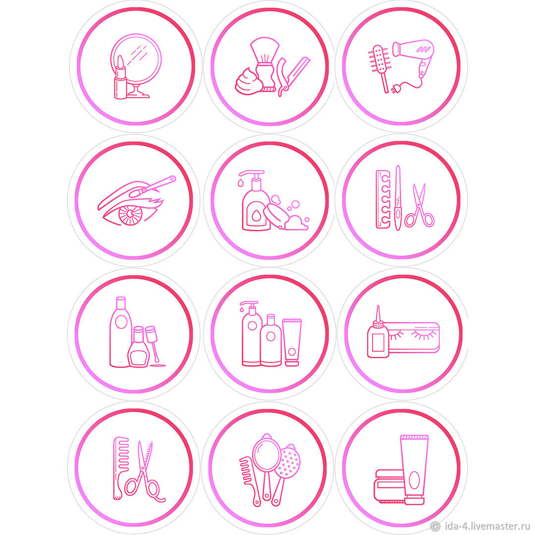 'Salon-3 ' Icons for instagram, Illustrations drawings, Permian,  Фото №1
