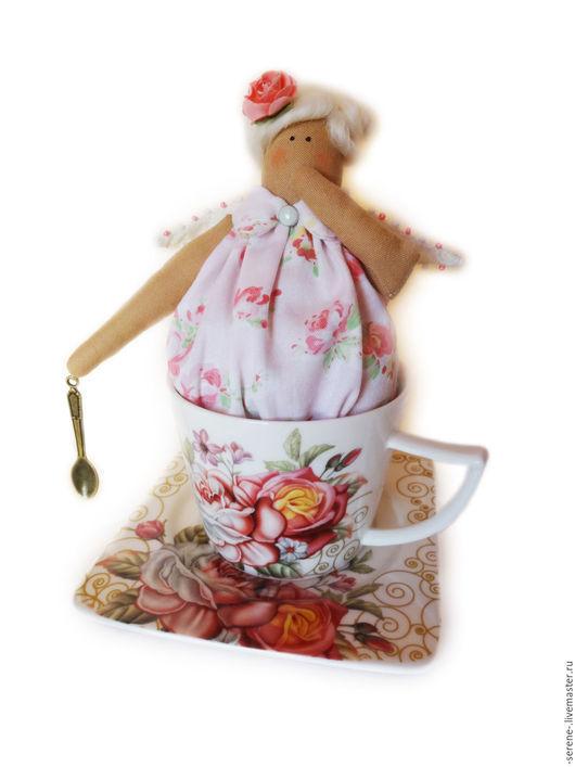 Куклы Тильды ручной работы. Ярмарка Мастеров - ручная работа. Купить Тильда Миссис Пепперпот в кружке. Handmade. Розовый