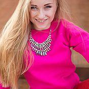 Одежда ручной работы. Ярмарка Мастеров - ручная работа Ярко-розовая кофточка ( свитшот, толстовка). Handmade.