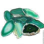 Материалы для творчества ручной работы. Ярмарка Мастеров - ручная работа Агат тонированный Срезы -зеленые. Handmade.