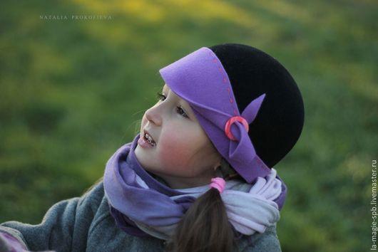 """Шапки и шарфы ручной работы. Ярмарка Мастеров - ручная работа. Купить Детская шляпка """"La fraicheur d'automne"""" (Осенняя прохлада). Handmade."""