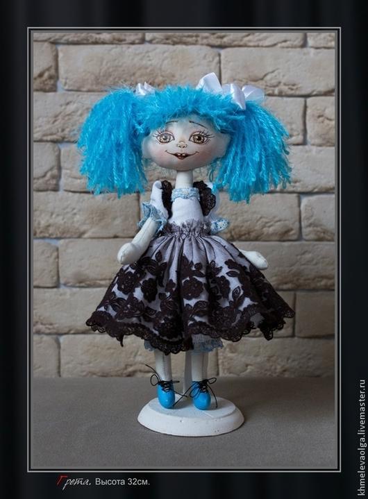 Коллекционные куклы ручной работы. Ярмарка Мастеров - ручная работа. Купить Кукла текстильная Грета. Handmade. Коричневый, подарок детям