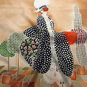 """Аксессуары ручной работы. Ярмарка Мастеров - ручная работа Платочек шелк""""Ретро1""""серия""""Ежедневно меняется Мода. Handmade."""