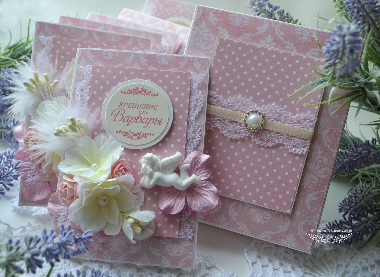 Крестины, крещение: открытки, конвертики, коробочки и прочее 5
