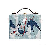 Сумки и аксессуары handmade. Livemaster - original item Women`s bag Swallows made of wood with painting. Handmade.