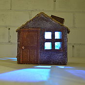 """Для дома и интерьера ручной работы. Ярмарка Мастеров - ручная работа Ночник """" Домик для ежика"""". Handmade."""