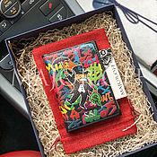 Обложки ручной работы. Ярмарка Мастеров - ручная работа Обложка для паспорта и автодокументов кожа именная. Handmade.
