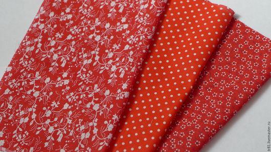 Шитье ручной работы. Ярмарка Мастеров - ручная работа. Купить Ткань, отрезы 20х25 см, 3 шт.. Handmade.