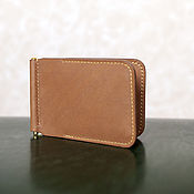 Сумки и аксессуары handmade. Livemaster - original item Wallet with clip barenia. Handmade.