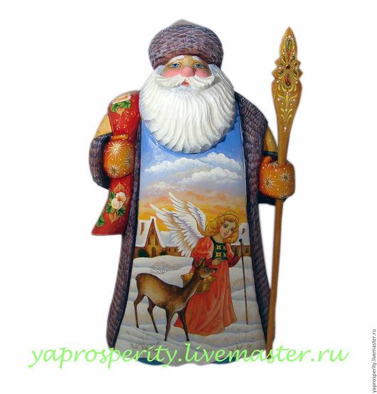Сувениры ручной работы. Ярмарка Мастеров - ручная работа. Купить Дед Мороз. Handmade. Комбинированный, сувенир из дерева, новогодний сюжет