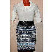 Одежда handmade. Livemaster - original item Skirt jacquard knitted Norwegian. Handmade.