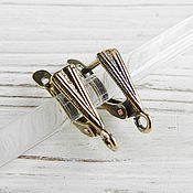 Материалы для творчества handmade. Livemaster - original item Earrings with locking bronze brass (art. 2635). Handmade.