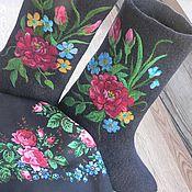 """Обувь ручной работы. Ярмарка Мастеров - ручная работа Войлочные сапоги """"Варенька. Handmade."""