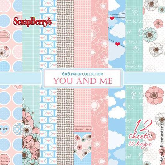 В наборе 12 односторонних листов бумаги (по одному листу каждого дизайна).  Размер: 15х15 см. Плотность: 190 гр/м Коллекция: Про любовь (You and Me). Бренд: ScrapBerry`s