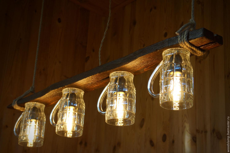 Деревянный светильник на кухню своими руками 47