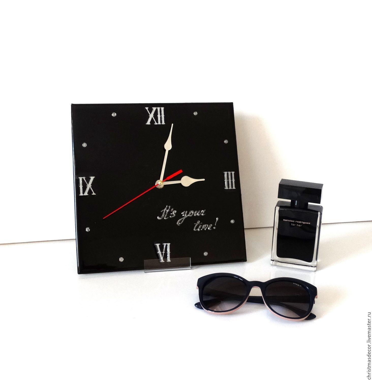 Часы настенные Черный квадрат – купить в интернет-магазине на ... a119ea1a57c