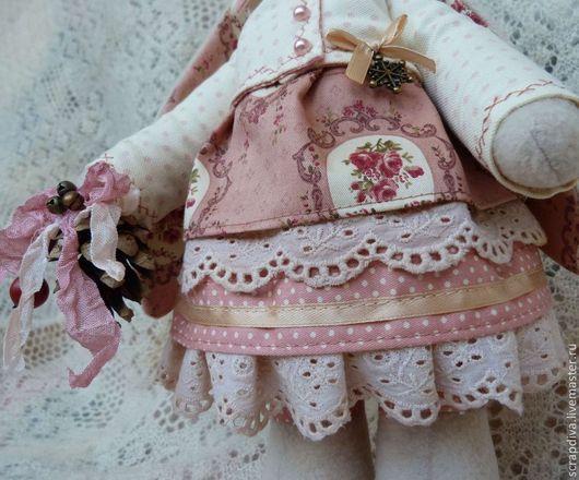 Куклы Тильды ручной работы. Ярмарка Мастеров - ручная работа. Купить Зимняя винтажная зайка. Handmade. Тильда, подарок на новый год