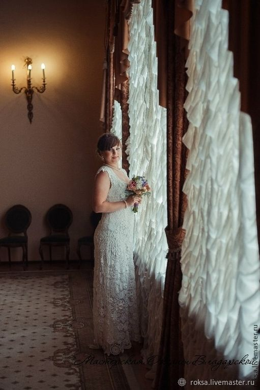 Knitted wedding dress 'Agnes', Dresses, St. Petersburg,  Фото №1