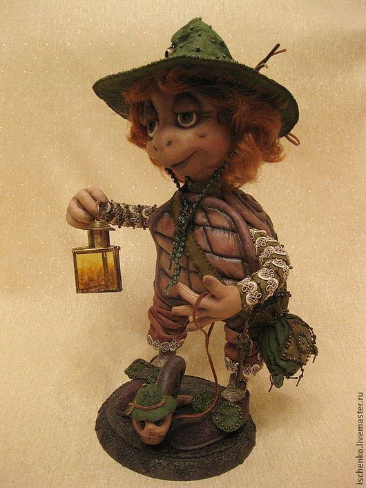 Коллекционные куклы ручной работы. Ярмарка Мастеров - ручная работа. Купить Черепаха Леонардо. Handmade. Коричневый, путешественник, эксклюзивный подарок