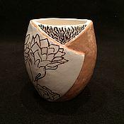 """Для дома и интерьера ручной работы. Ярмарка Мастеров - ручная работа """"Цветок кактуса"""" керамический стакан для зубных щёток ручной работы. Handmade."""