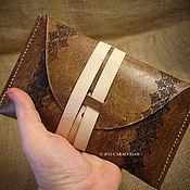 Фен-шуй и эзотерика ручной работы. Ярмарка Мастеров - ручная работа Кожаный чехол для карт Таро антик стандартный размер. Handmade.