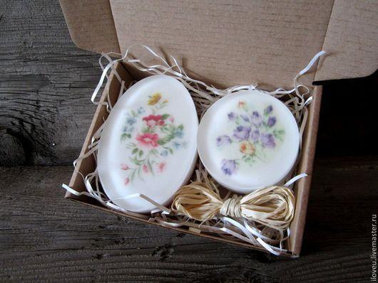 """Мыло ручной работы. Ярмарка Мастеров - ручная работа. Купить Набор мыла """"Полевые цветы"""" подарки на 8 марта, подарок на день учителя. Handmade."""