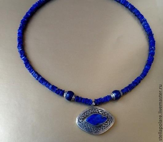 """Колье, бусы ручной работы. Ярмарка Мастеров - ручная работа. Купить Колье """"Синее око Уаджет"""", этническое, восточное украшение. Handmade."""