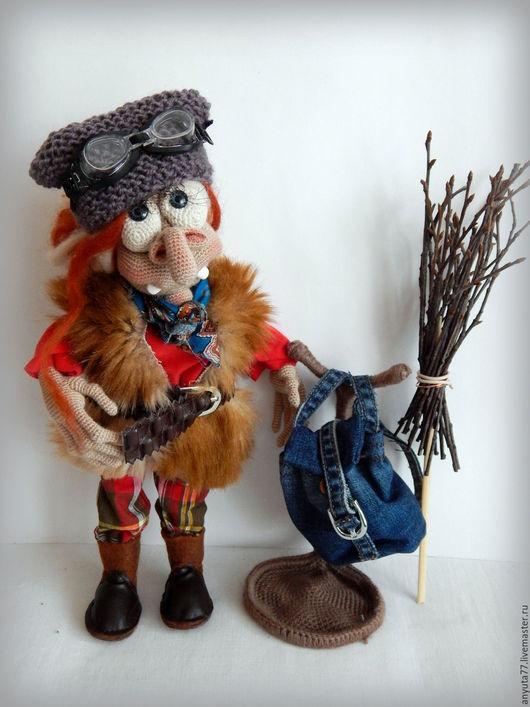 Коллекционные куклы ручной работы. Ярмарка Мастеров - ручная работа. Купить Ягуля-креатив. Интерьерная кукла. Handmade. Баба яга