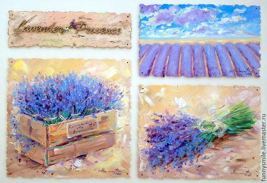 Картины цветов ручной работы. Ярмарка Мастеров - ручная работа. Купить Картина маслом на холсте Lavender Provence Лаванда Прованс. Handmade.