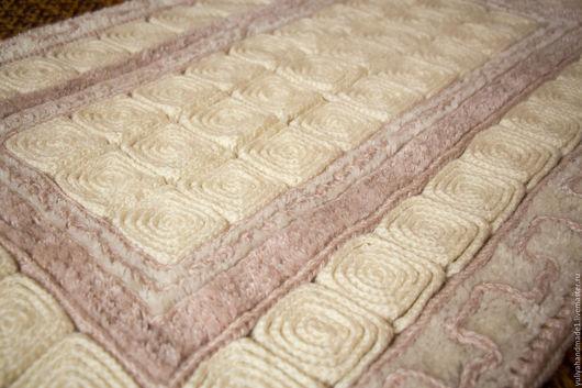 Текстиль, ковры ручной работы. Ярмарка Мастеров - ручная работа. Купить ковер ручной работы. Handmade. Бледно-розовый