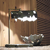 Для дома и интерьера handmade. Livemaster - original item Table lamp Green crystals. Handmade.