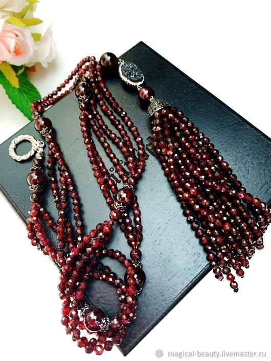 With pendant of garnet, Necklace, Moscow,  Фото №1