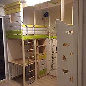 Кровати ручной работы. Ярмарка Мастеров - ручная работа Кровати: Детская комната со скалодромом. Handmade.
