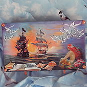 Для дома и интерьера handmade. Livemaster - original item Suitcase for the little Mermaid. Handmade.