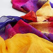 Аксессуары ручной работы. Ярмарка Мастеров - ручная работа Валяный шарф Цветок джунглей. Handmade.